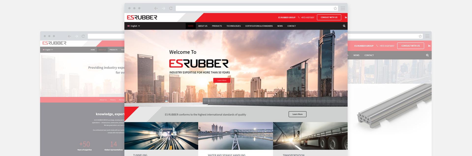 אתר קטלוג e-commerce של גומי עין שמר