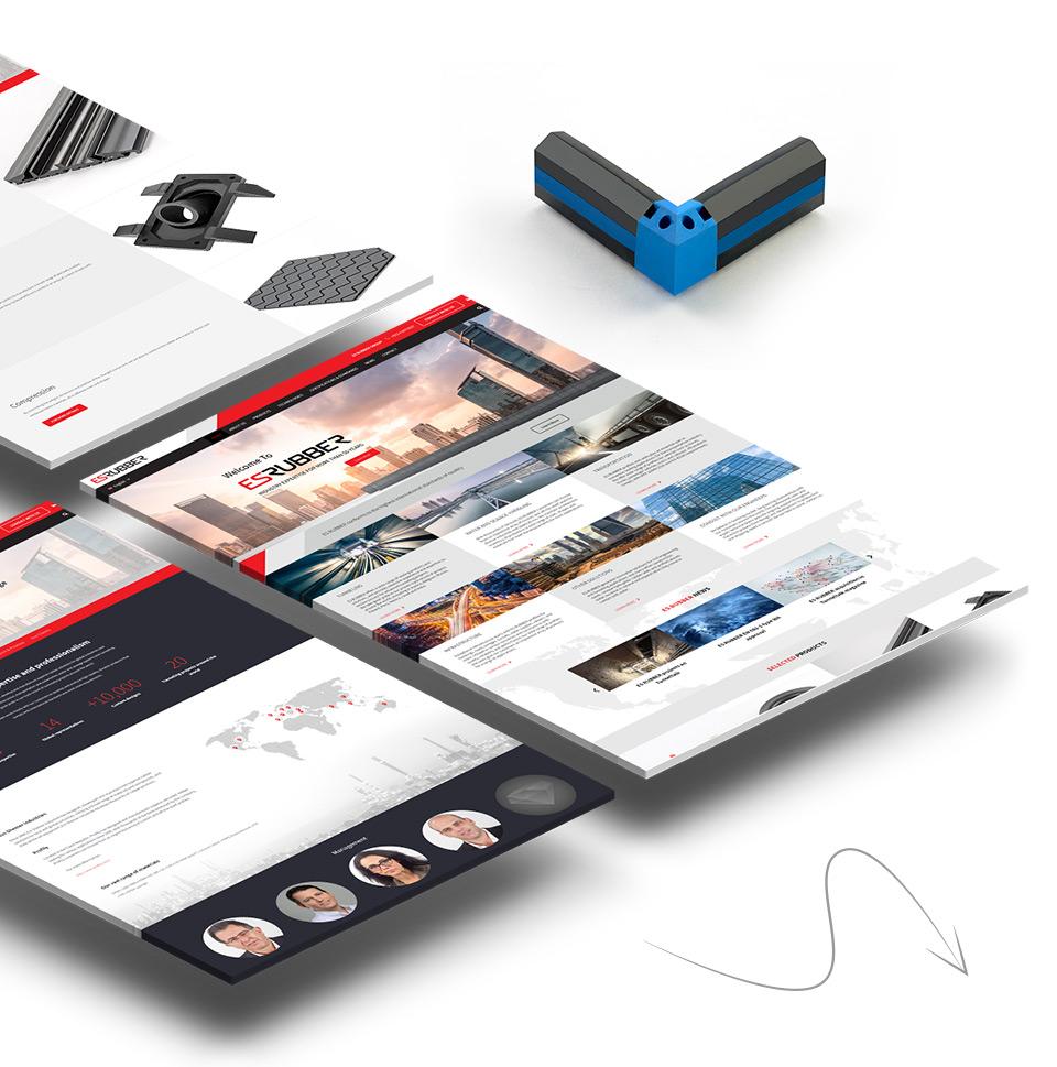 עיצוב אתר קטלוג e-commerce של תעשיות גומי עין שמר