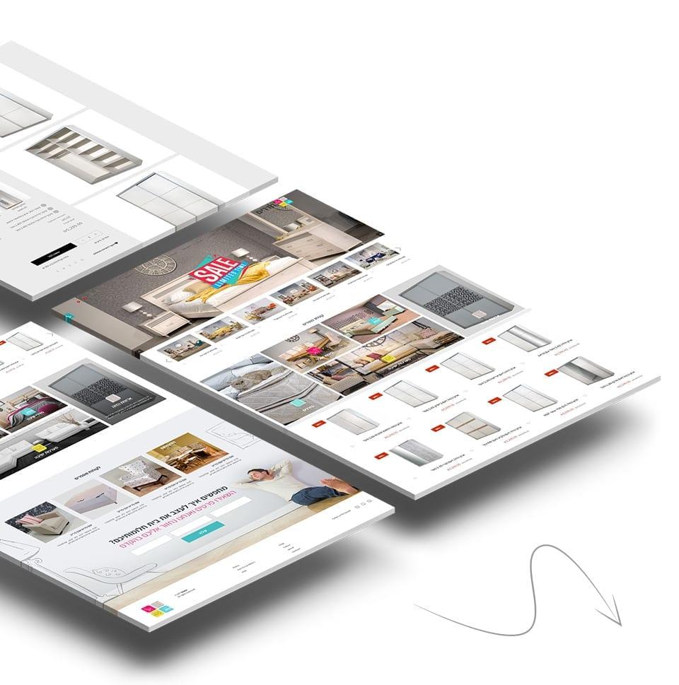 עיצוב ופיתוח חנות רהיטים