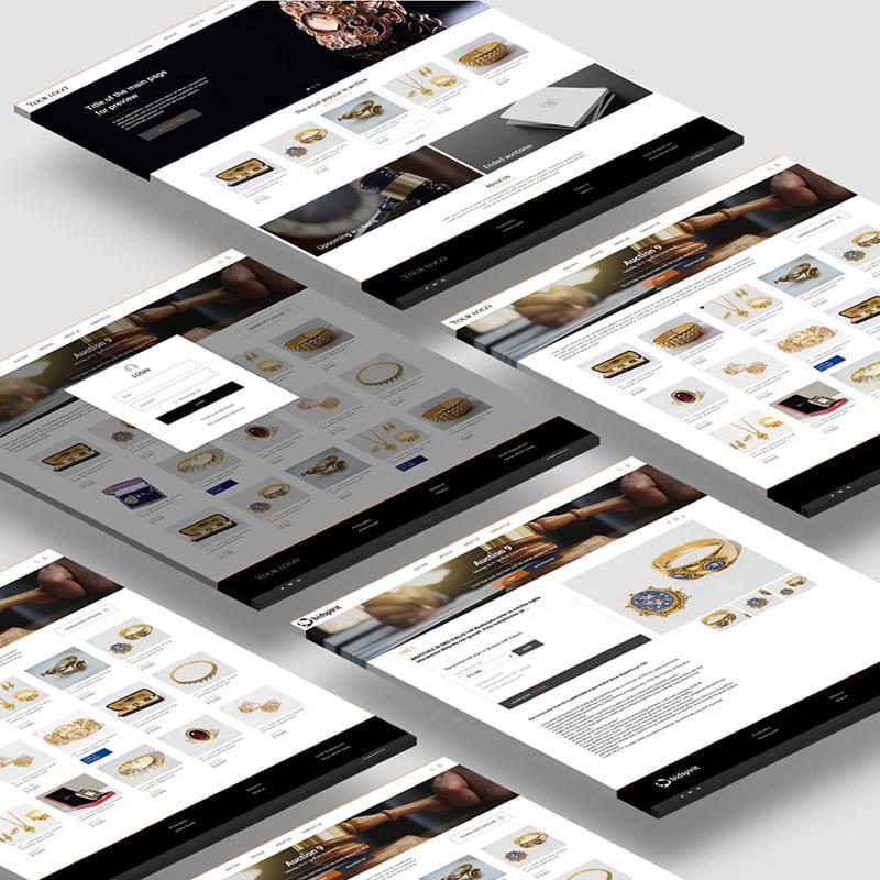 עיצוב ובניית תבנית לקטלוג איקומרס של מכירות פומביות