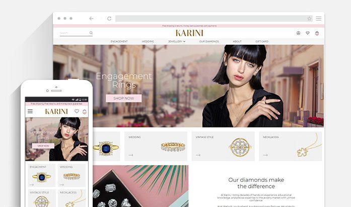 בניית חנות תכשיטים - Karini